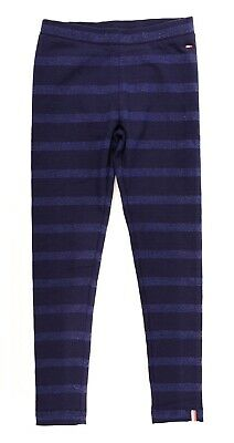 TOMMY HILFIGER Girls' Metallic Stripes Leggings, Navy Blue, sizes 6-7 or 12-14y.