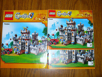 No parts NEW LEGO Kings Castle 70404 INSTRUCTION BOOKLETS ONLY