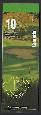 Canada BK176b: 43c Golf Courses in Canada booklet of 10 open and TI, Scott 1557b