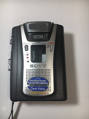 Sony TCM-465V Handheld Cassette Clear Voice Activated Tape Recorder