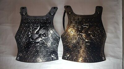 Black Knight Costume Chest Plate Shield   Kids With Dragons Halloween Plastic