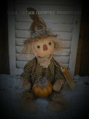 Primitive Scarecrow Doll~Pumpkin~ Halloween~ Fall Decor