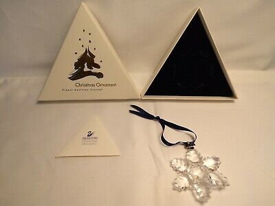 Swarovski 1996 Annual Holiday Crystal Ornament Snowflake / Star with Box