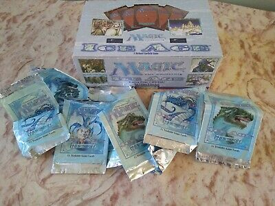 Ice Age Booster Box Empty And Eight Empty Booster Packs Mtg