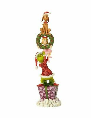 NEW Jim Shore Dr Seuss STACKED GRINCH characters ENESCO figurine  #6002066