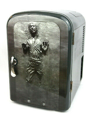 Star Wars Han Solo 4L Mini Fridge Cooler / Warmer Portable 11939 Lucas Film Gray