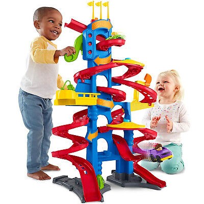 Fisher-Price Toy With 2 Race Cars Educational Fun For Boys Little People Kids