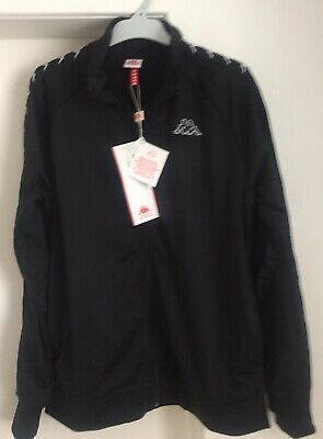 Men's Kappa Black Jacket and Pants- New With Tags - Size L - Slim Fit