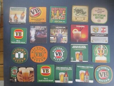 20 Different  VICTORIA BITTER ./ Brewery  Issue collectable COASTERS