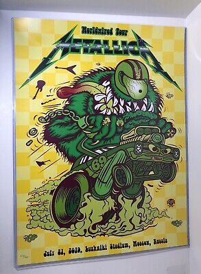 Metallica Moscow Russia July 21 2019 Concert Tour Poster #276/350