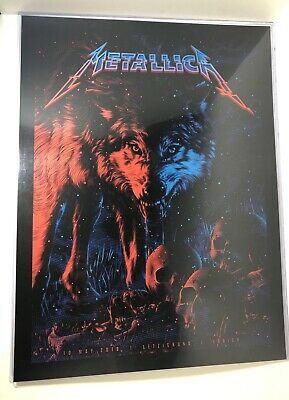 Metallica Letzigruno, Zurich Concert Poster May 10 2019 Tracy Ching Rare AP