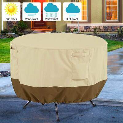 Outdoor Garden Round Table Cover Waterproof Patio Furniture Set Large Small
