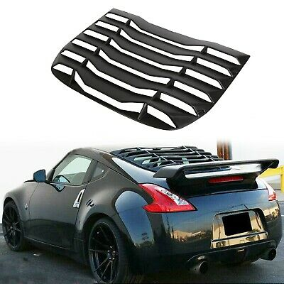 Fits 09-19 Nissan 370Z Coupe IKON Style Window Scoop Louver Sun Shade Cover ABS