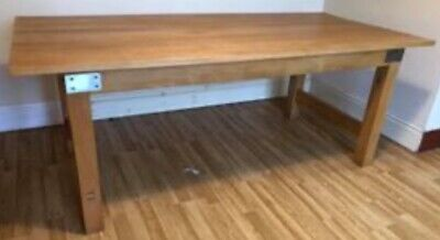 Large solid hardwood Kitchen Table By Heal's of London (Cost £1000's) Seats 6-8