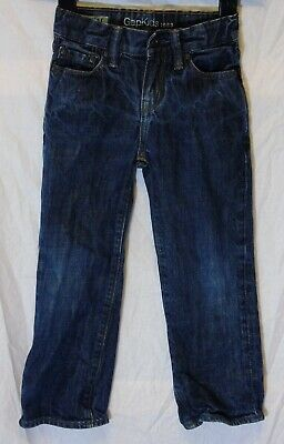 Boys Gap Dark Blue Denim Adjustable Waist Regular Fit Jeans Age 5 Years