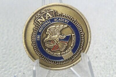 FBI National Academy Knowledge Courage Integrity Challenge Coin