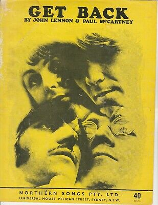 "THE BEATLES-""Get Back"" orig. 1969 Aust. sheet music"