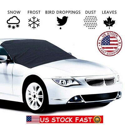Magnet Car Windshield Cover Sun Shade Protector Winter Snow Dust Frost Guard US~