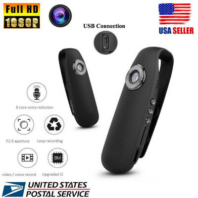 NEW 1080P HD 130 Mini Camera Dash Cam Police Body Motorcycle Sport Camcorder US