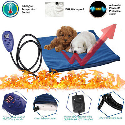 Winter Waterproof Cat Dog Puppy Safe Heated Bed Cover Heating Pad Heater Mat AU