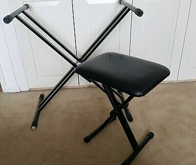 X frame keyboard stand and Stagg folding stool