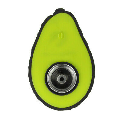 Silicone Avocado Hand Pipe High quality food grade silicone with glass insert