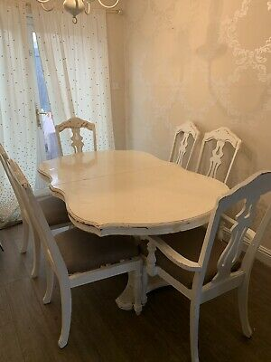 Shabby chic french dining table and chairs