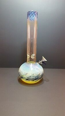 Hookah Water Pipe Bong Glass  12 inch –Blue w/ ICE catcher