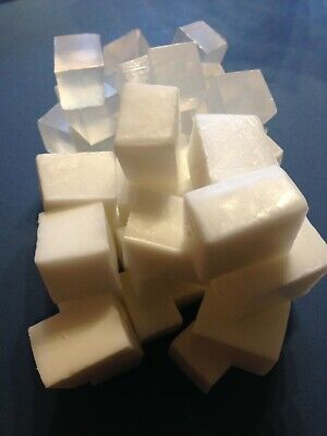 8KG MIXED WHITE & CLEAR Melt & Pour Soap Base - SLS Free-CHOPPED & READY TO USE