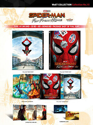 Preorder: SPIDER-MAN FAR FROM HOME [Blu-ray] 4K+3D+2D+BO~(STEELBOOK) 4-DISC (A1)