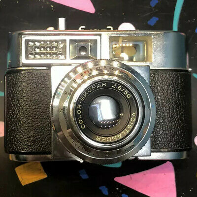 Voigtlander Vitomatic IIa with Color Skopar lens & case Rare Film Tested! Works