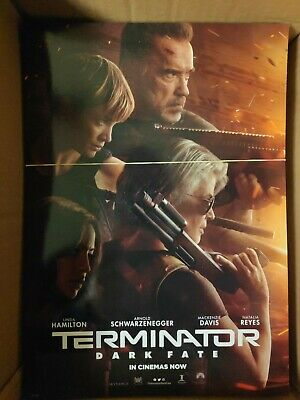 Terminator Dark Fate Odeon Official Movie Film Poster Arnold Schwarzenegger...
