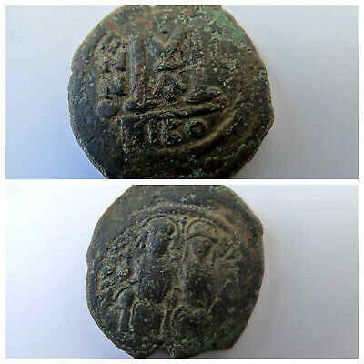 JUSTIN II & Queen Sophia 565AD HUGE Medieval Ancient Byzantine Coin M102
