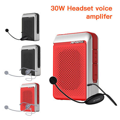 APORO 30W Wired Bluetooth Megaphone Voice Amplifier Booster Loudspeaker FM Radio