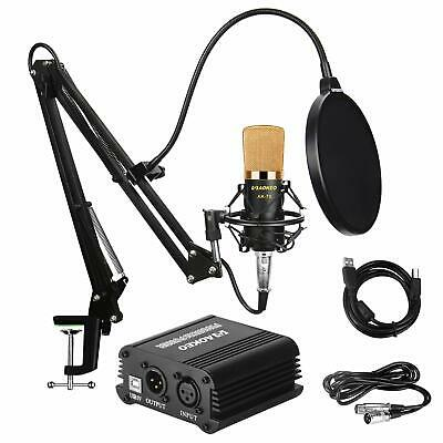 Music Recording Equipment Home Studio Package Bundle Professional Broadcast Set