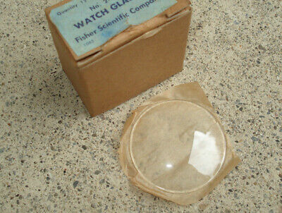 "Vtg Watch Glass Chemical 50mm Fisher Scientific Fire Polished Edge 2"" Box of 10"