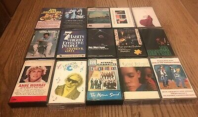 Cassette Lot Of 15 TAPES 80' ROCK Jazz Classic Music Mix