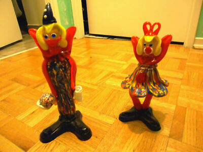 W2 Trading Art Glass Hand Blown Clowns Figure Collection!