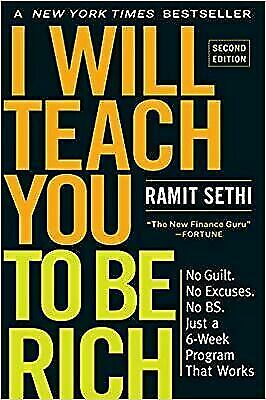 I Will Teach You to Be Rich by Ramit Sethi (2019, Paperback) USED