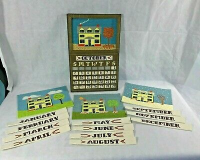 Perpetual Calendar Plastic Canvas Four Seasons Numbers Months Handmade Amazing