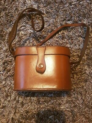 Lovely Leather Binoculars Case With Initials H.G.W