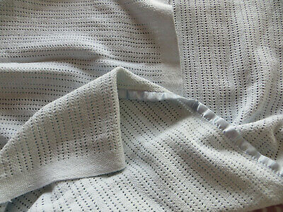 Large blue cellular baby blanket from The Little White Company
