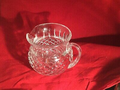 Vintage Lead Crystal Diamond Pattern Pitcher