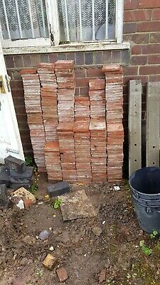 Reclaimed Victorian Quarry Tiles 6 x 6 red over 300 plus half and cut tiles