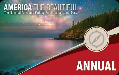 AMERICA THE BEAUTIFUL ANNUAL PASS Expires August 2020 - USA National Parks