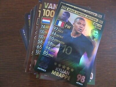 Match Attax 101 - Bundle of 206 cards (includes Limited Edition) - No Duplicates