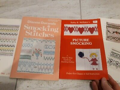 Dianne Durands SMOCKING STITCHES  + PICTURE SMOCKING by Kathy McMakin + 3 plates