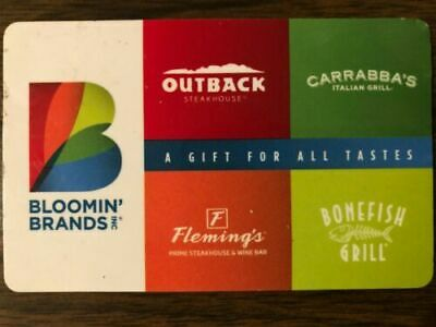 Bloomin' Brands (Outback Steakhouse) Gift Card $50 Value. Free Shipping!