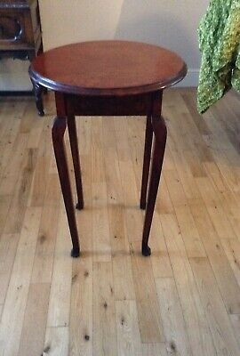 Antique Occasional Table, Victorian, Oak, English, Country, Hall, Side ,c.1850s
