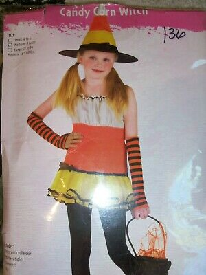 Girls Halloween Costume - Candy Corn Witch size M